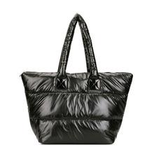Cotton bag shoulder bag women s handbag down bag fashion winter down cotton single shoulder handbags