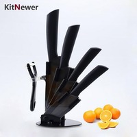 KITNEWER top quality kitchen knife set Ceramic Knife set 3 4 5 6 inch + Peeler+ Stand Holder kitchen tools