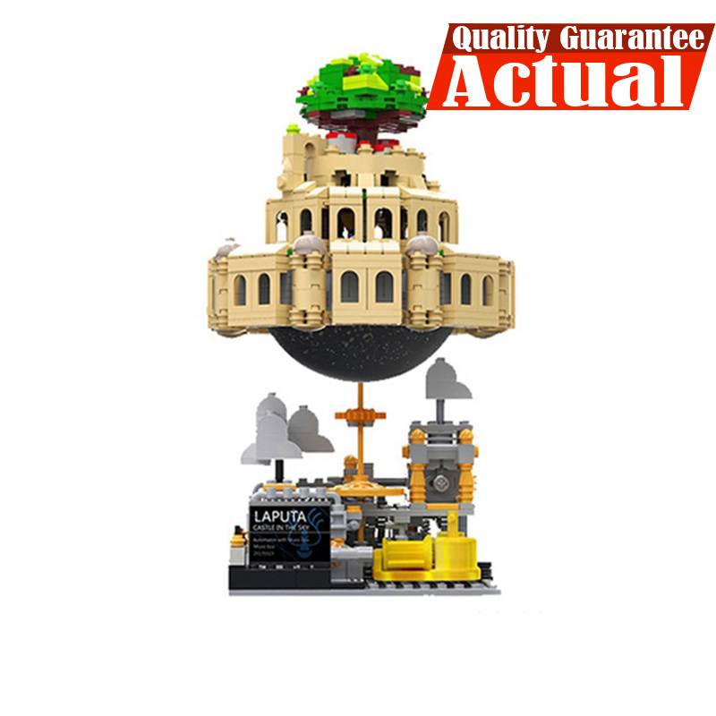 XingBao The Castle in The Sky Genuine MOC with Music box Series 05001 1179Pcs Set DIY Building Blocks Bricks Model Children Gift seize the sky