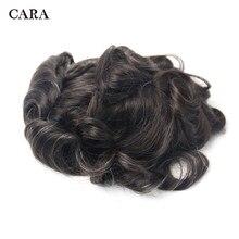 10x8 erkekler saç peruk doğal dantel tabanı poli yan saç değiştirme sistemi erkekler için peruk brezilyalı 100% remy insan saçı