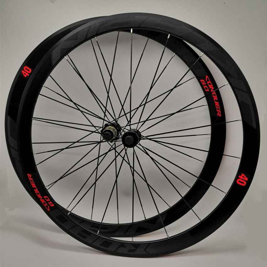 C6.0 super-light aluminum road bicycle sealed bearing wheelset flat spokes racing 40mm rims 700C with anti-cursorC6.0 super-light aluminum road bicycle sealed bearing wheelset flat spokes racing 40mm rims 700C with anti-cursor