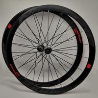 C6.0 super light aluminum road bicycle sealed bearing wheelset flat spokes racing 40mm rims 700C with anti cursor