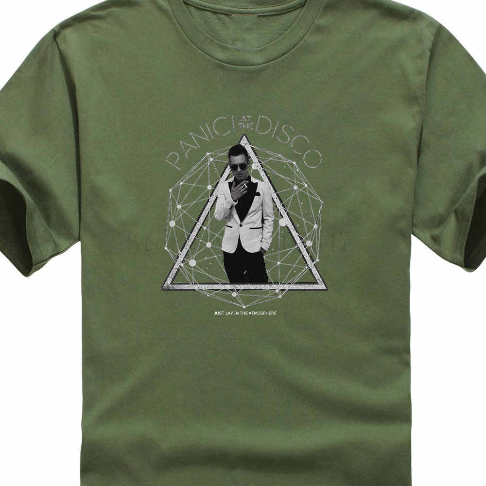 3d4570c2 ... New Arrival Short Fashion Panic At The Disco Photo Galaxy Crew Neck  Short-Sleeve Mens ...