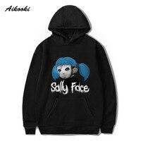 Aikooki Sally Face Толстовка с капюшоном для мужчин и женщин Зимняя теплая хлопковая толстовка для мальчиков и девочек кепки Polluvers игры Sally Face Eyes