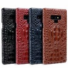 Натуральная кожа Роскошный Ретро узор крокодиловая 3D твердая задняя крышка для samsung Galaxy Note 8 9 S8 S9 PLUS Note9 защитный чехол