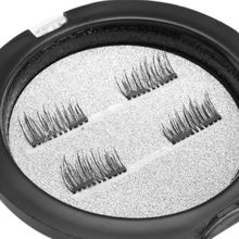 NEW-3D Magnetic False Eyelashes Natural Eye Lashes Extension 4Pcs/2Pair Magnetic Eyelashes