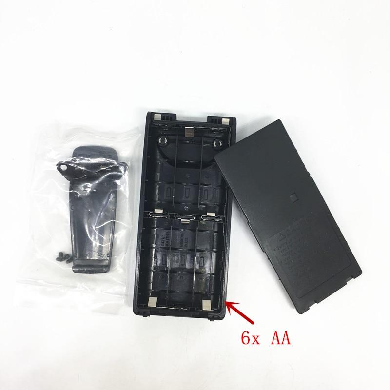Battery Case Box For Icom IC-V8 IC-V82 IC-F30GT IC-F40GT IC-F31GS IC-F3GS IC-F11 Etc Walkie Talkie 6*AA With Belt Clip