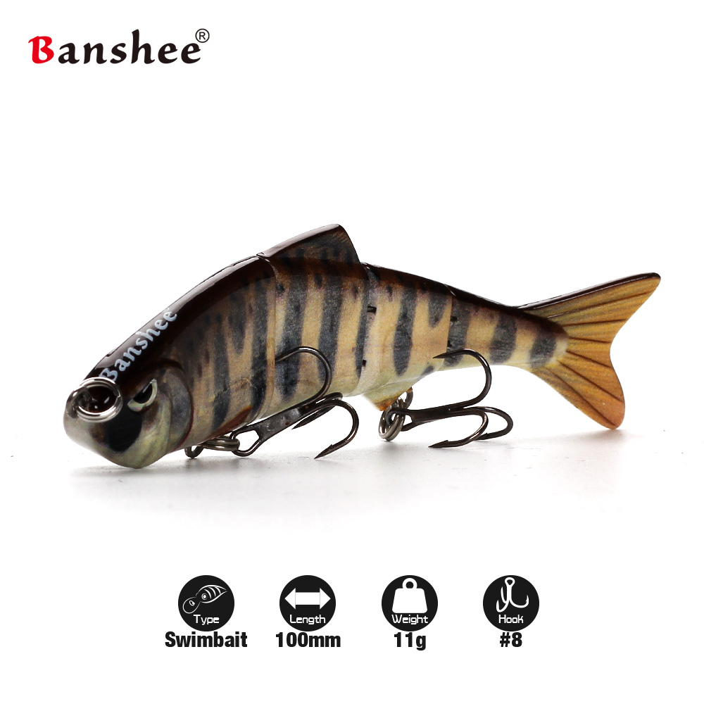 Banshee 100mm 11g VMJ04-4 Fishing Lure 4 scetions Multi Jointed Sinking Swimbait Hard Artificial Bait banshee 127mm 21g nexus voodoo atj01 swimbait two sction multi jointed topwater walk dog stickbait floating pencil