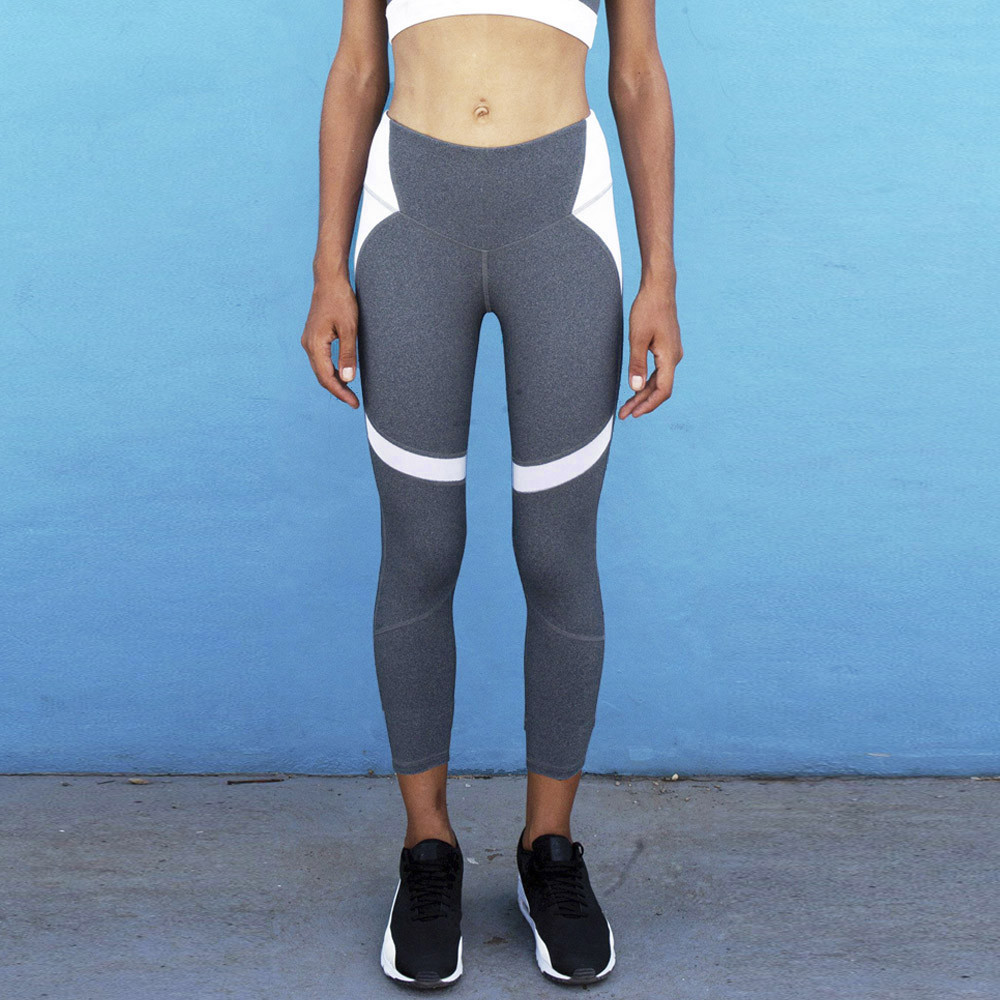 a3eaf6709dc Leggings Women Hit Color Splice sports Ladies Sports Gym Running Fitness  Pencil track Pants Athletic Trouser Workout-in Trainning   Exercise Pants  from ...