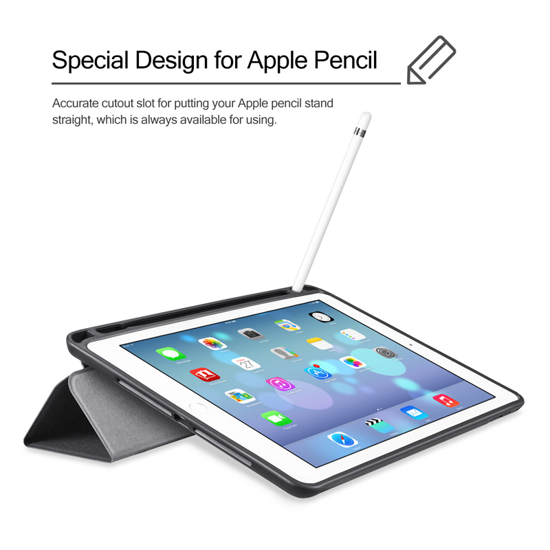 For Ipad Pro 10 5 Case Pu Leather Slim Smart Cover With Pencil