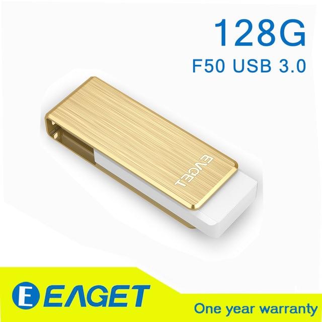 EAGET F50 USB 3.0 128 GB 128G usb pen drive 3.0 flash drive pendrive 3.0 128 gb pendrive memoria Regalo 128 gb 3.0 A Prueba de agua palo