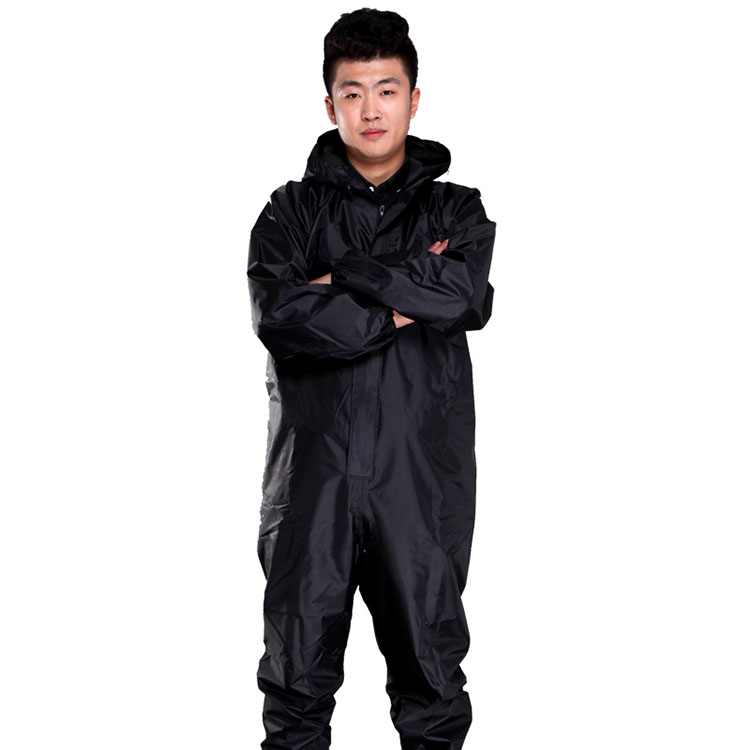 Men Waterproof Overalls Hooded Rain Coveralls Work Clothing Dust-proof Paint Spray Male Raincoat Workwear Safety Suits M-XXXL (14)