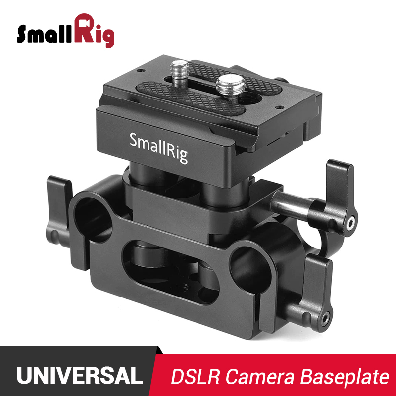 SmallRig DSLR Camera Plate Universal 15mm Rail Support System Baseplate Feature with Arca compatible QR plate 2272SmallRig DSLR Camera Plate Universal 15mm Rail Support System Baseplate Feature with Arca compatible QR plate 2272