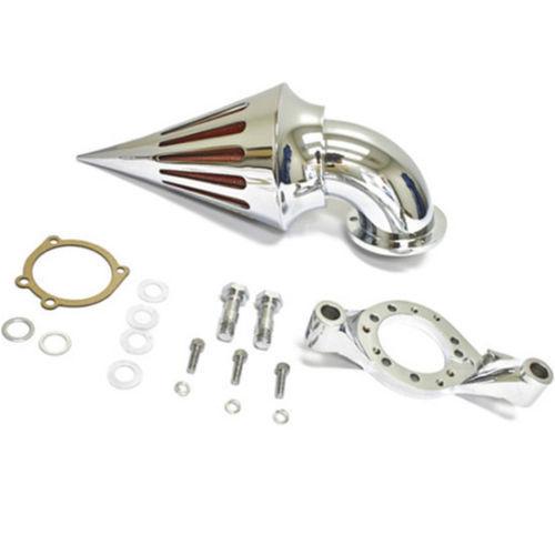 Chrome Spike Air Filter Intake Cleaner Air Filter Kit For Harley Delphi V Twin