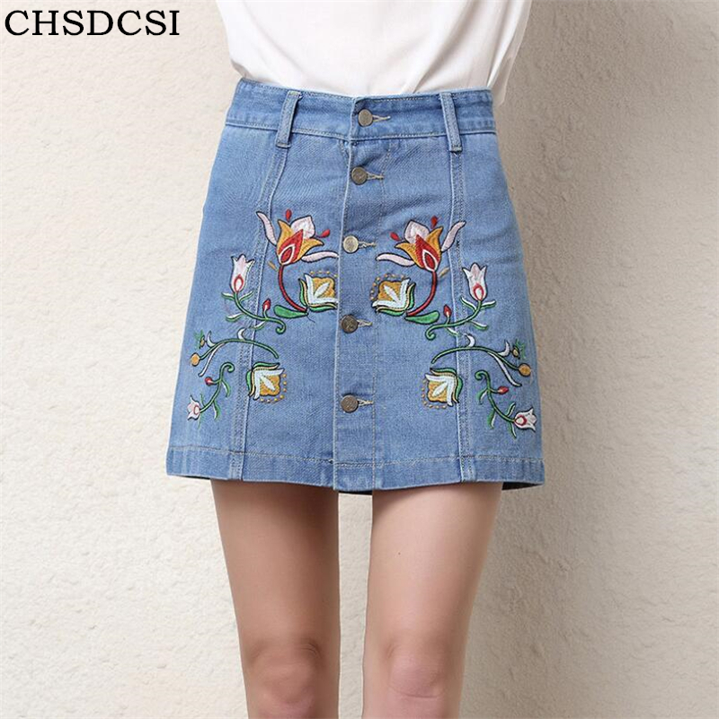 CHSDCSI 2018 New Summer Pencil Skirt High Waist Washed Women Skirts Preppy Style Denim All Match Mini Plus Size Womens Faldas
