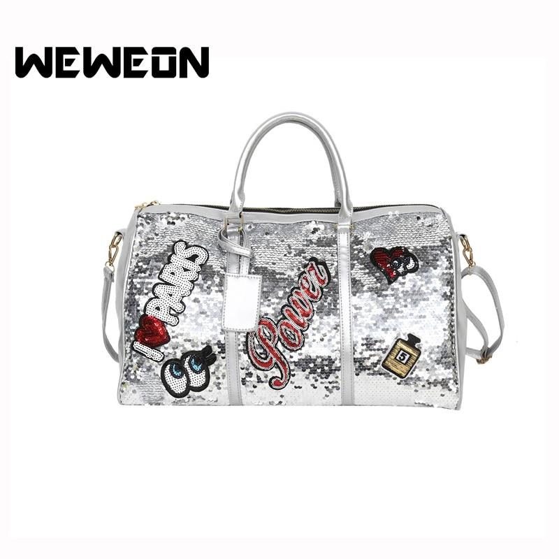 2018 Designer Star Perfume Eyes Love Sequins Sport Bag Women Gym Fitness B Travel Handbag For Male Yoga Bag Sac De Sport