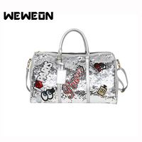 2018 Designer Star Perfume Eyes Love Sequins Sport Bag Women Gym Fitness B Travel Handbag For Male Yoga Bag Sac De Sport