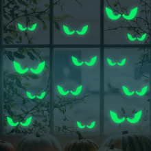 Eyes Wall Glass Sticker Halloween Decoration Luminous Decals – Green