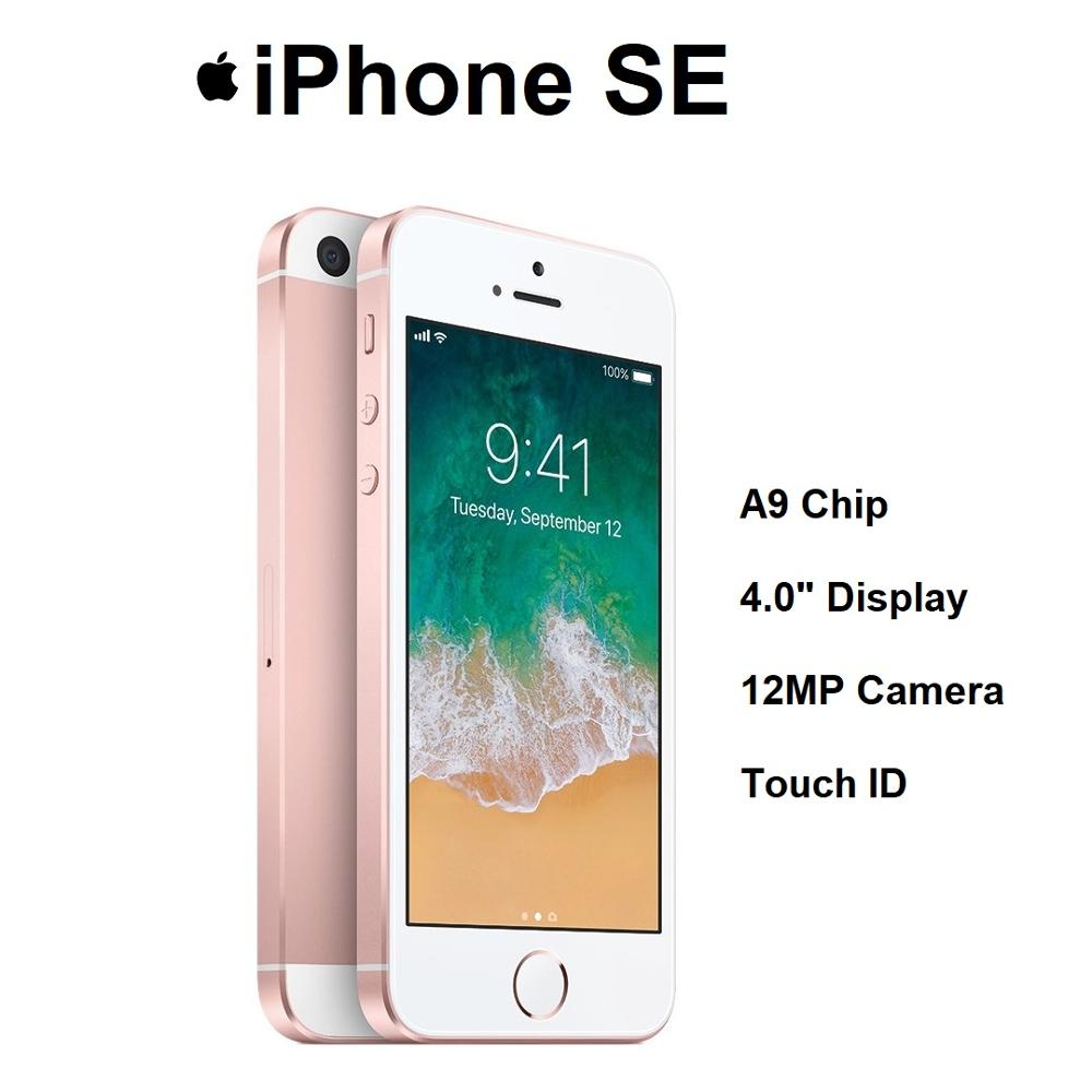"""Apple Brand New iPhone SE Locked Version 4.0"""" Display A9 Chip 12MP Camera IOS Mobile Phone Low Price"""