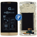 For LG G3 Mini (G3s) D722 D722V D724 Beat D722K D725 Complete Lcd Screen with Digitizer Assembly and Frame - Gold
