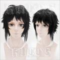 Heat Resistant Anime Bungo Bungou Stray Dogs Ryunosuke Akutagawa Costume Full Lace Cosplay Wig +Free Wig CAP