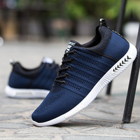 2018 Spring/Autumn breathable Mesh Lace up shoes man Light Cool adults men sneakers Leisure solid fashion men casual shoes