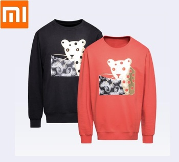 Xiaomi youpin Leopard Patch Embroidery Sweatshirt Long sleeve Fashion embroidered cotton Comfortable skin coat