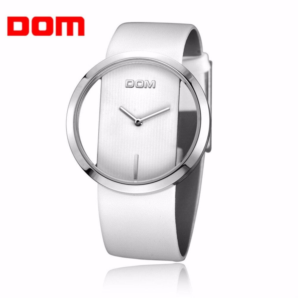 Watch Men Women DOM Brand Luxury Fashion Casual Quartz Unique Elegant Hollow Skeleton Watches Sports Leather Lady Watches JYL