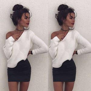bdbffc5e Thefound Women Long Sleeve Knitted Pullover Sweater Jumper