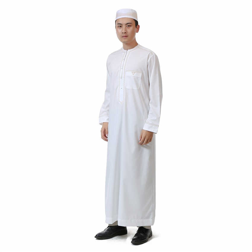 efb3c70696ce ... Men Islamic Clothing Jubba Thobe Arabic Traditional Muslim Robes Arab  Saudi Dubai Oman for Man Kaftan ...