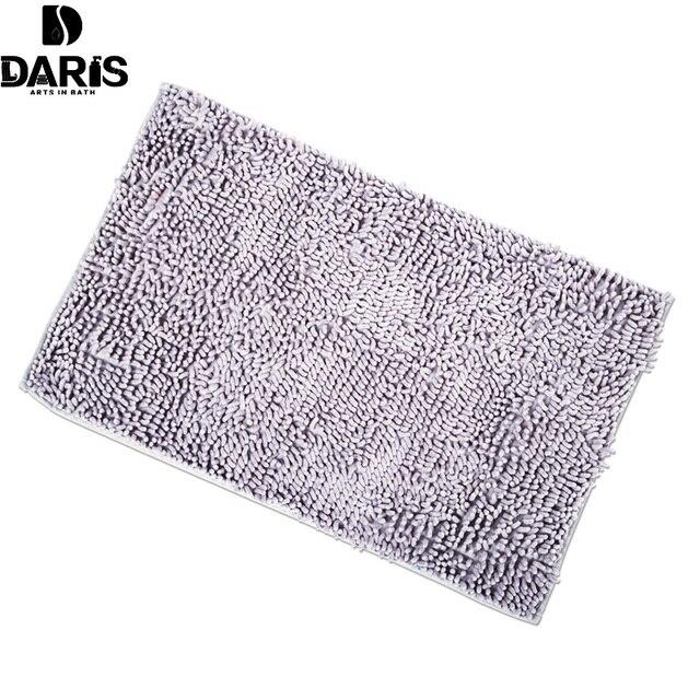 SDARISB Simple Carpet Door Mats Bedroom Carpet Chenille Bathroom Vacuum Suction Carpet Bathroom Mat
