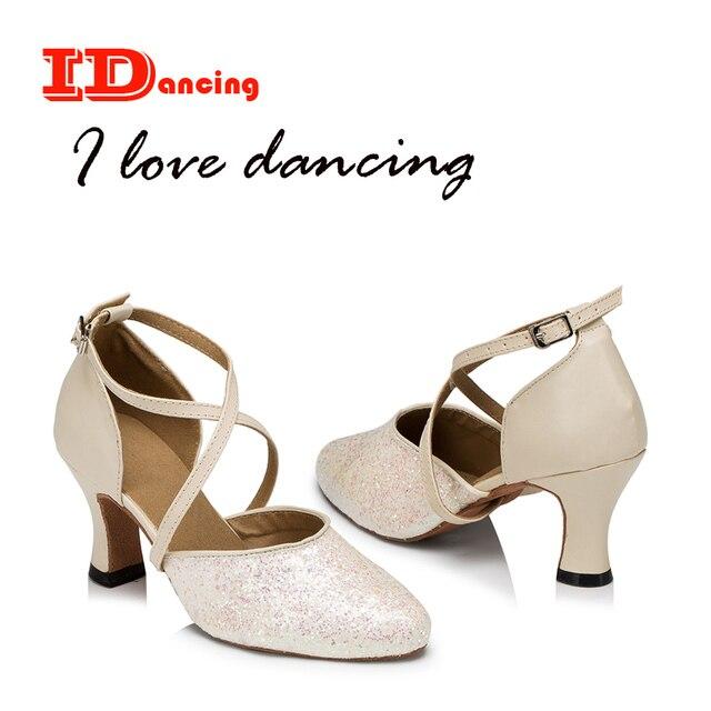 b99b02fc IDancing 2018 nuevos zapatos blancos para las mujeres salsa zapatos de baile  de otoño e invierno