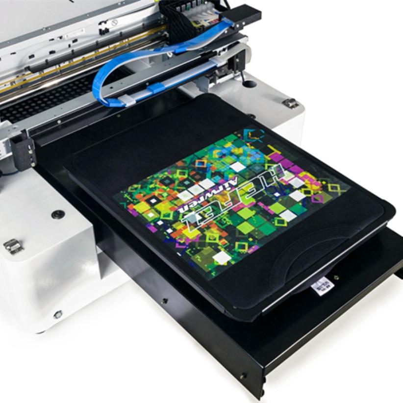 quantity production t shirt printing machine haiwn AR-T500 small format t-shirt printer high quality dtg flatbed printer small size textile t shirt printing machine