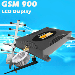 LCD Display GSM 900Mhz Mobile Phone Cellular Signal Booster GSM 900 Signal Repeater Cell Phone Amplifier 3G Signal Set For Home