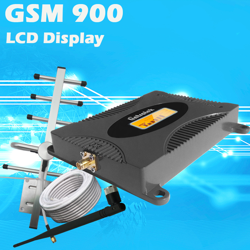 LCD Display GSM 900Mhz Mobile Phone Cellular Signal Booster GSM Signal Repeater Cell Phone Amplifier 3G Signal Set For Home #40