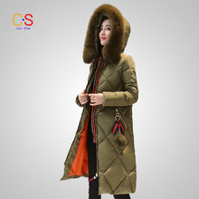 New Hot Selling Women Coat Winter Slim Cut Ladies Jackets Quilted Overcoat with Fur Collar Female Winter Outfits