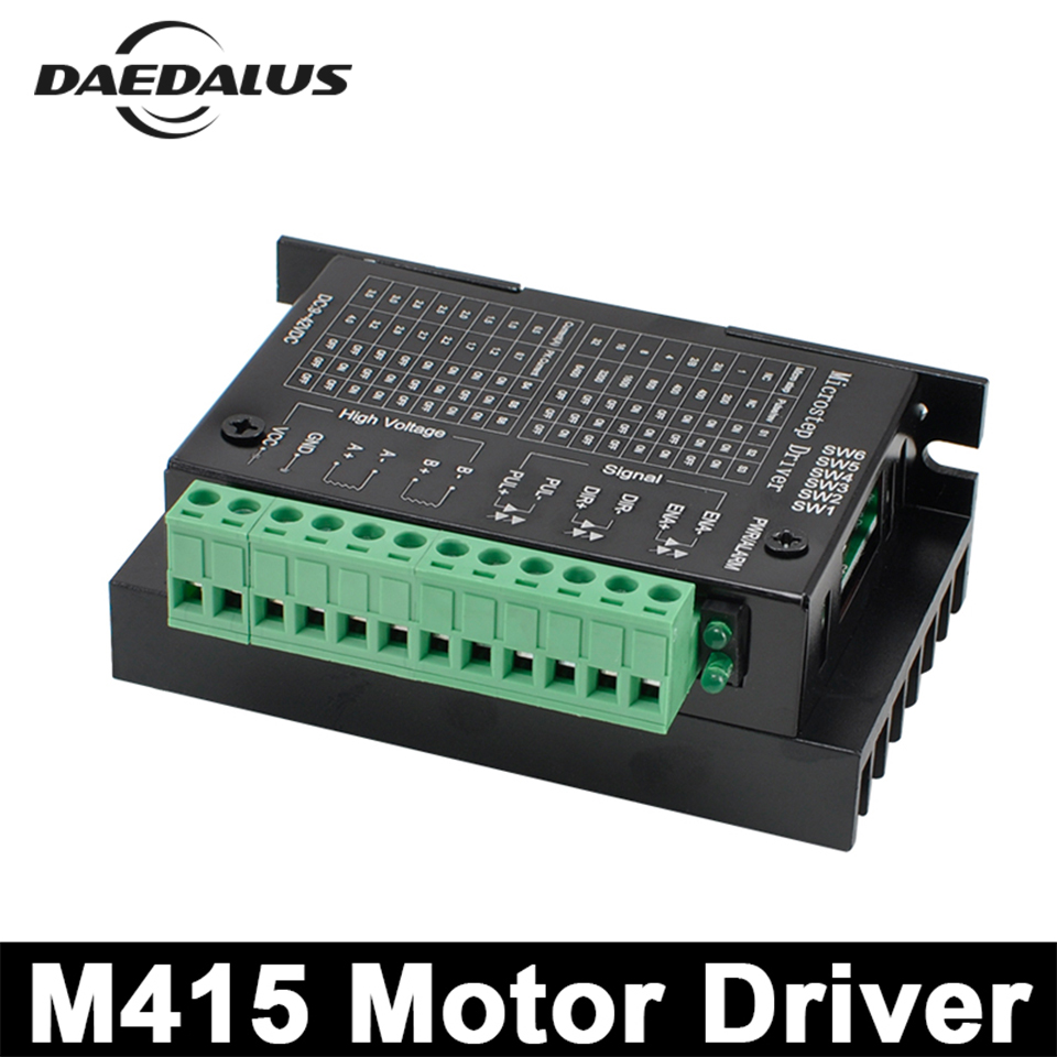 CNC M415 4A Hybrid Stepping Motor Driver 42/57 Stepper Motor Driver Two Phase For Spindle Motor Machine smdr01 thb7128 3a segment type two phase hybrid stepping motor drives 128 segment 42 60
