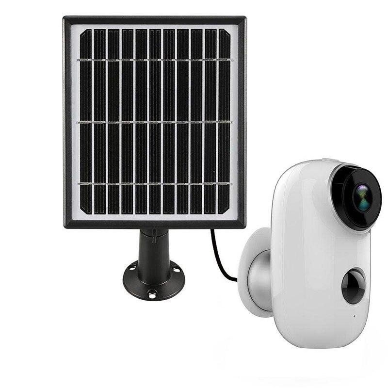 100% sans fil Rechargeable résistant aux intempéries sans fil Cloud stockage batterie de sécurité extérieure WiFi IP caméra HD 720 P 128G TF carte
