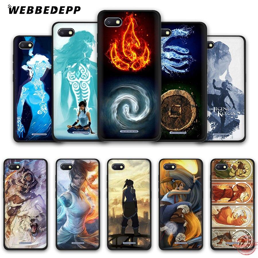 Webbedepp أسطورة كورا لينة جراب هاتف ل Redmi نوت 8 7 6 5 برو
