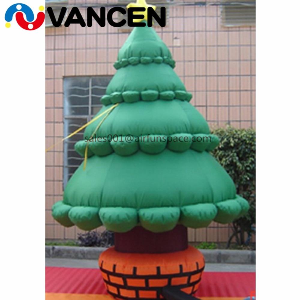 Guangzhou fournisseur 3mH arbre gonflable pour la décoration de noël Oxford tissu yard géant gonflable arbre de noël