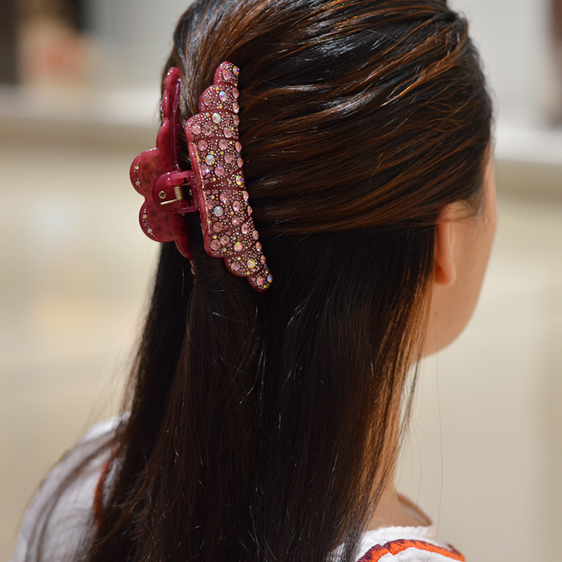 2016 New Korean Flower Crown Hair Claw Rhinestone Hair Clips Festival Fascinator Gift For Girls Hair Accessories For Women in Women 39 s Hair Accessories from Apparel Accessories