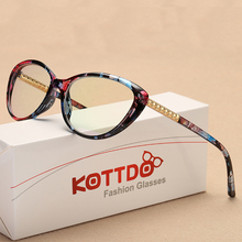 KOTTDO Retro Cat Eye Eyeglasses Women Optical Spectacle Frame Computer Reading glasses frame oculos de grau feminino armacao