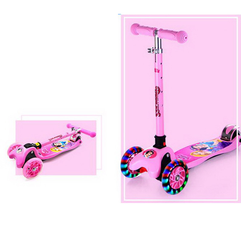 все цены на  221212/High quality Adjustable height Three-wheel Scooters Kids' Foot Scooters Liftable Children' Kick Scooter  в интернете