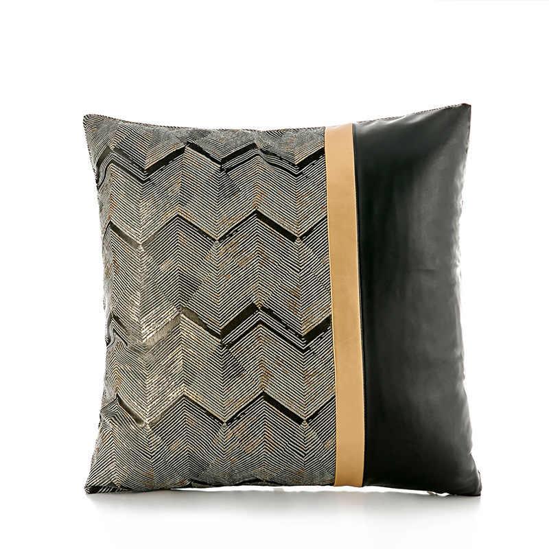 Волнистый узор, полиуретановый материал, дизайн, наволочка для дивана, декоративная наволочка для подушки, поясная наволочка, чехол для гостиничного отдыха