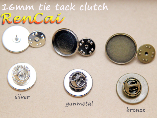 Lovely 50pcs Lapel Pin for 16mm glass cabochon Bezel Brooch Tie Tack  UE24