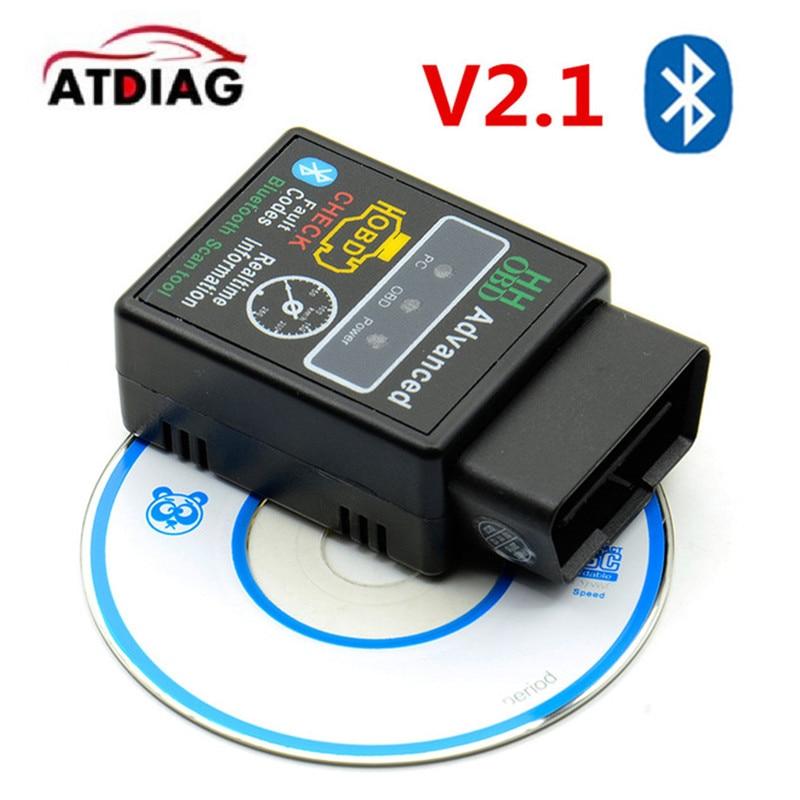 ELM327 HH OBD 2 OBDII V2.1 Car Auto Bluetooth Diagnostic Tool Interface Scanner