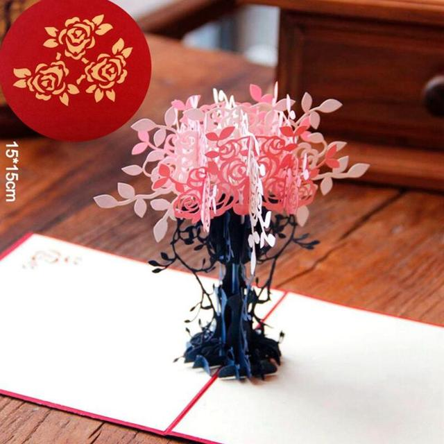 Paper origami greeting card vase pop up cut crafts diy 3d gift card paper origami greeting card vase pop up cut crafts diy 3d gift card birthday postcards blessing mightylinksfo
