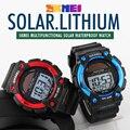 Mens esporte relógios de energia solar led relógio digital de relógio de pulso relogio masculino montre homme skmei moda casual ao ar livre