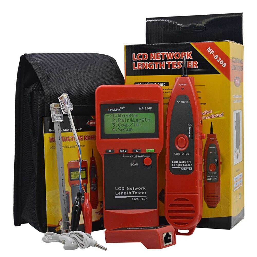 NOYAFA NF-8208 Ethernet LAN testeur de câble réseau détecteur Inspection Cat5e Cat6e RJ45 traqueur de fil diagnostiquer le traceur de tonalité - 6