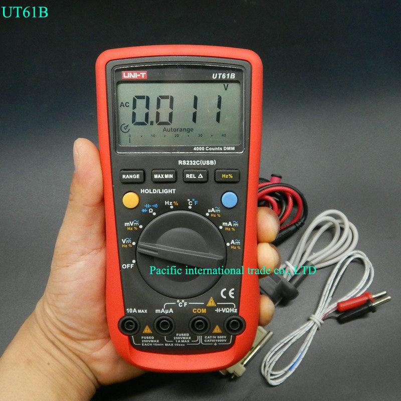 UNI-T UT61B LCD Digital Multimeter AC DC voltmeter ohmmeter ammeter meter CD Backlight & Data Hold Multitester мультиметр uni t uni t ut71b alicate amperimetro ac dc